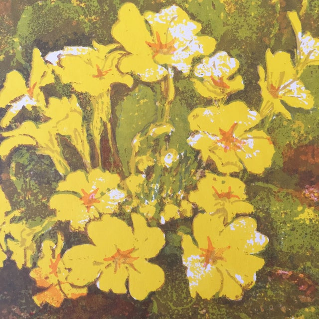 """""""A Yellow Whirl of Primrose"""" Woodblock - Image 3 of 4"""