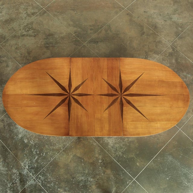 Mid-Century French Directoire Style Inlaid Table For Sale - Image 4 of 13
