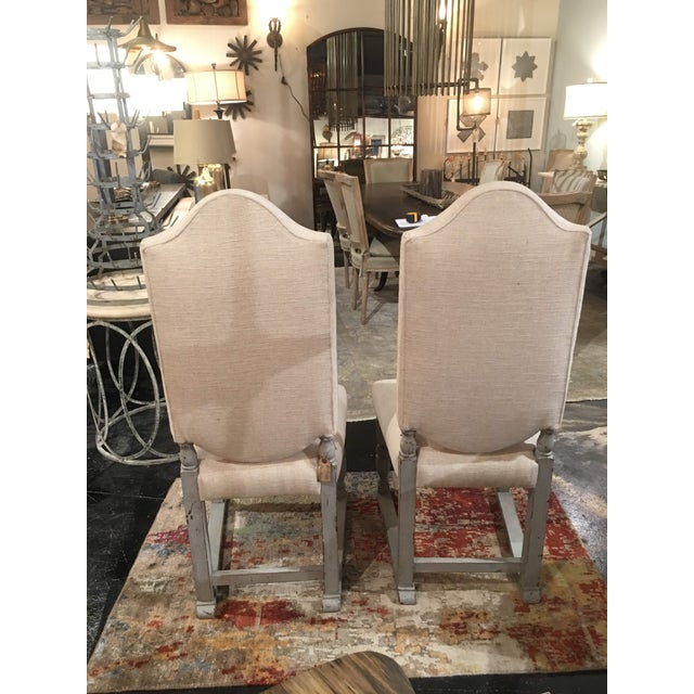 Late 19th Century Late 19th Century Antique French Gray Blue Painted Chairs- a Pair For Sale - Image 5 of 13