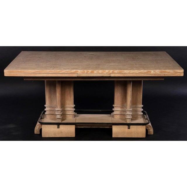 Art Deco Cerused Oak Dining Table - Image 2 of 7