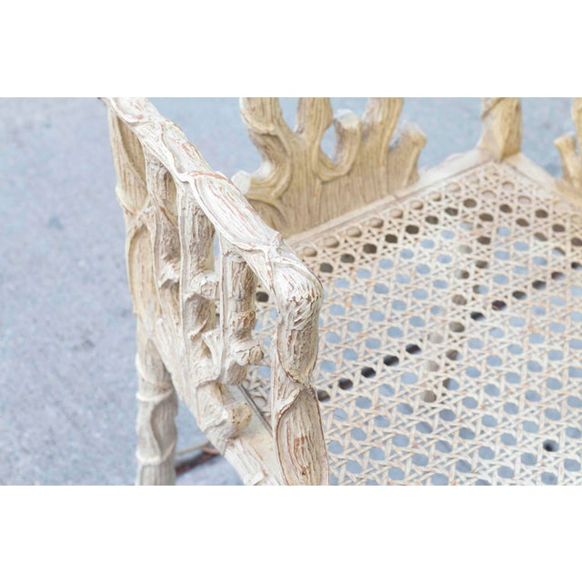 Decorative Branch Faux-Bois Chairs - Set of 4 - Image 8 of 10