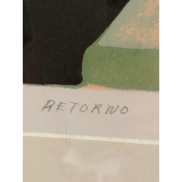 Mid 20th Century Vintage Mid-Century Signed Gilberto Almeida Print For Sale - Image 5 of 7