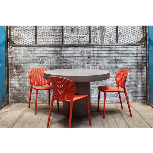 """Contemporary Dark Grey Circa 47"""" Dining Table For Sale - Image 3 of 7"""