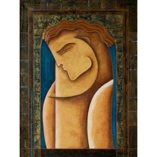 Late 20th Century Gaylord Soli Cubist Painting For Sale