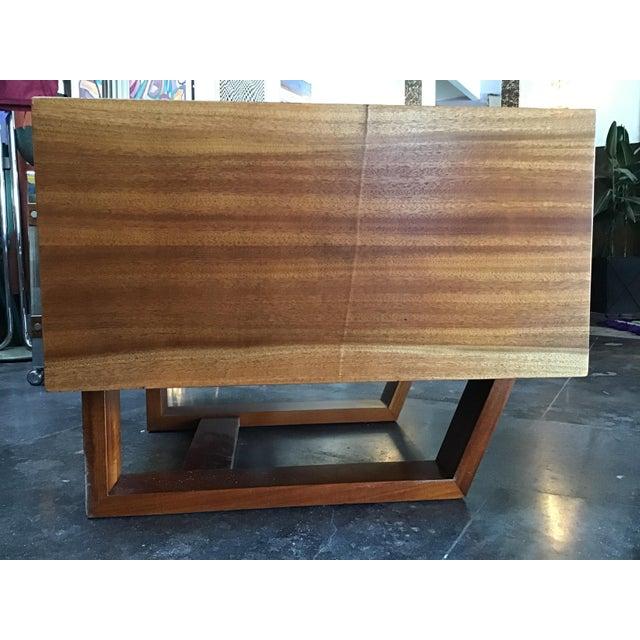 1970s Scandinavian Modern Teak Oversized Side Table For Sale - Image 9 of 11