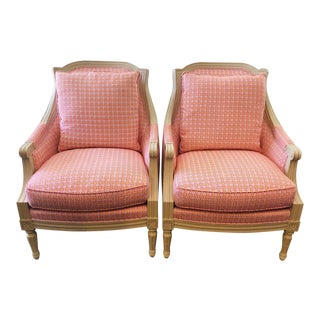 Early 21st Century Transitional Upholstered Accent Chairs - a Pair For Sale