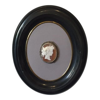 Antique Victorian Framed Cameo For Sale
