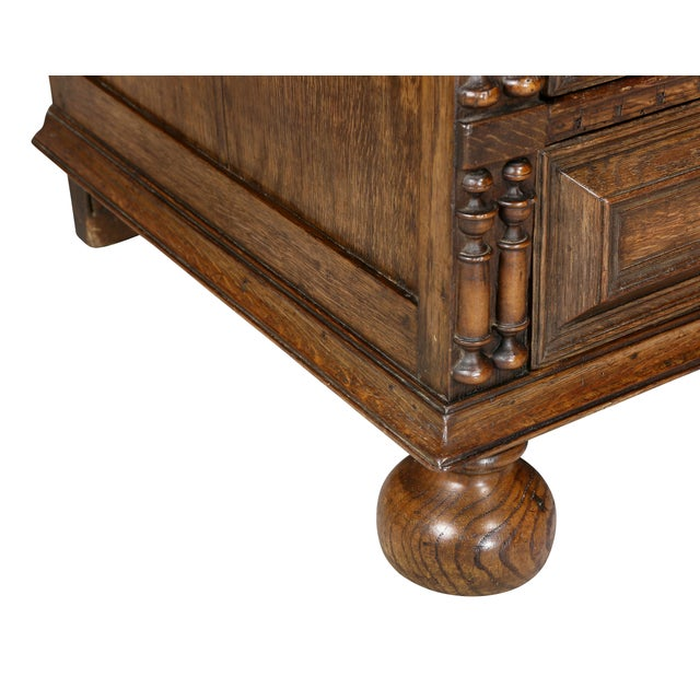 Brown Jacobean Oak Chest of Drawers For Sale - Image 8 of 12