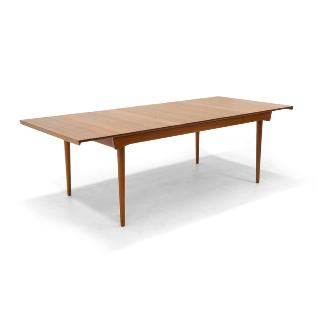 Finn Juhl Teak Dining Table, Expandable with Two Leaves, Exceptional Condition - Image 5 of 11