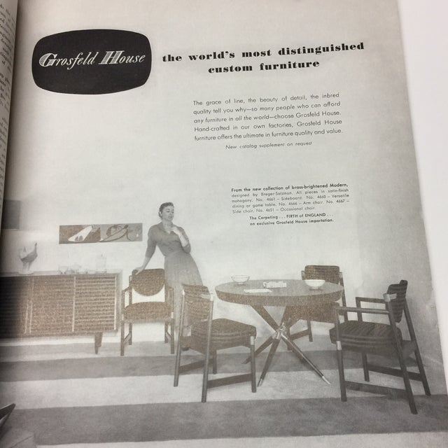 Mid-Century Modern 1950s Vintage Interiors Architecture Magazine For Sale - Image 3 of 12
