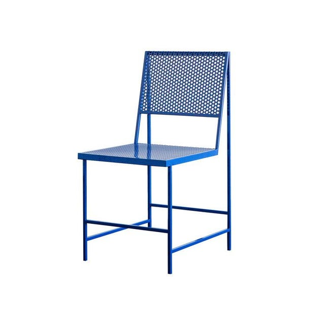 2010s Flux Dining Chair in True Blue For Sale - Image 5 of 6