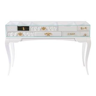 Covet Paris York White Console Table For Sale