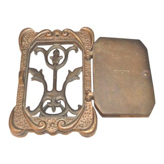1920s Door Knocker With Peep Hatch