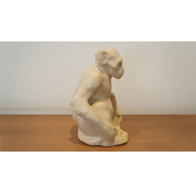 Art Deco Claude Levy for Primavera Ceramic Monkey Figurine For Sale - Image 3 of 8