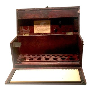 1920s Vintage Wooden Drop-Front Box For Sale