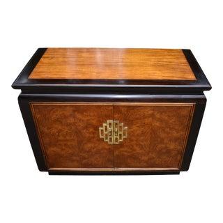 Century Furniture Chin Hua 2 Door Burled Wood Cabinet For Sale