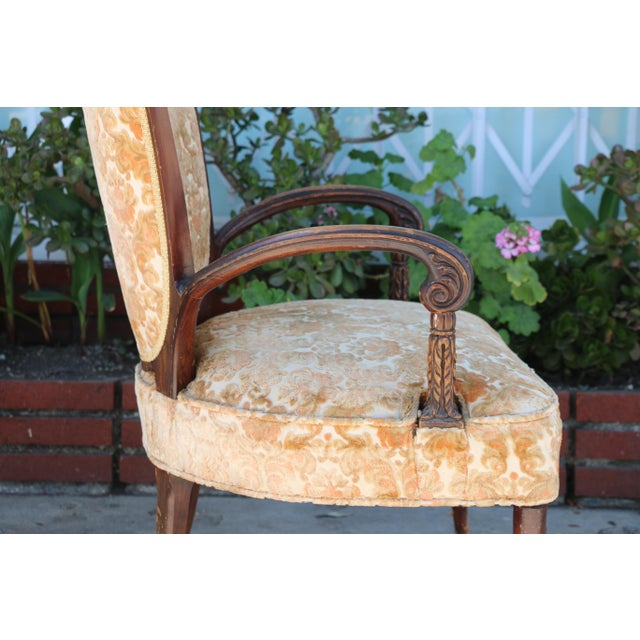 1940's Pair of Carved Chairs For Sale - Image 10 of 12
