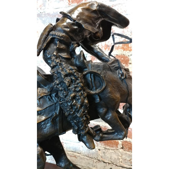 "Fredric Remington ""Rattlesnake"" Signed Western Bronze Sculpture For Sale In Los Angeles - Image 6 of 10"