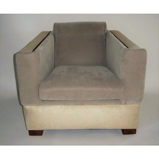 Art Deco Streamline Moderne Lounge Chair 1940s For Sale - Image 3 of 11