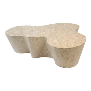 Orgo Cocktail Table, Fossil Stone For Sale