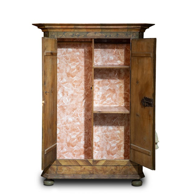 Offered is a hand painted Kas/Wardrobe/armoir/cupboard dated 1826. The piece is decorated with cartouches of historic...