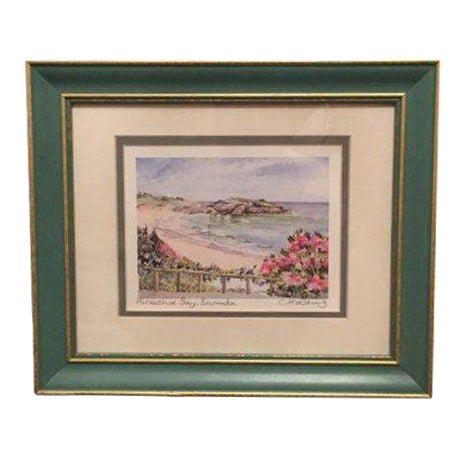 Framed Watercolor Print by Carole Holding For Sale