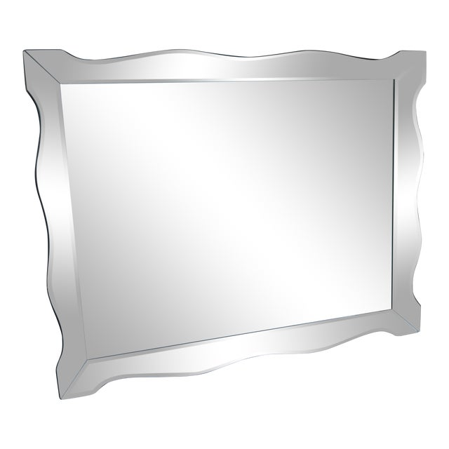 Scalloped Venetian Wall Mirror For Sale
