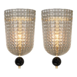 Art Deco Style Murano Glass Sconces For Sale