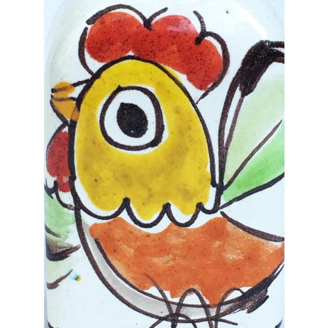 1960s Italian Pottery Vase Bottle Signed DeSimone For Sale - Image 5 of 7