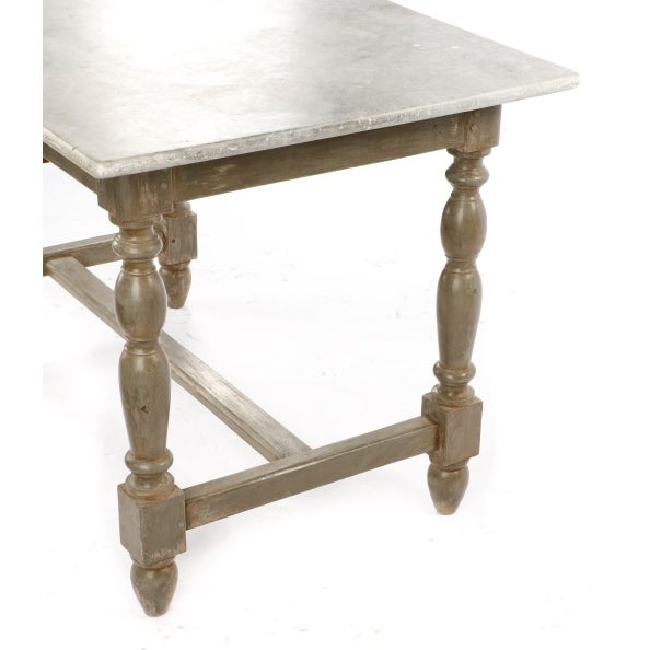 19th Century Gustavian Table With Marble Top and 18th Century Gustavian Farm Table - Image 3 of 10