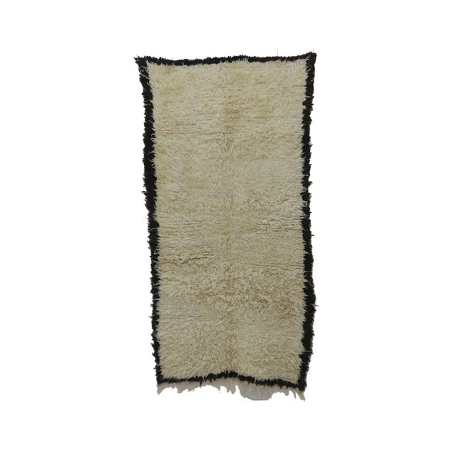 """1980s Vintage Beni Ourain Rug- 3'11"""" X 7'7"""" For Sale - Image 6 of 6"""