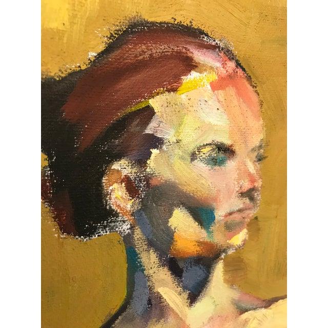 Vintage Nude Oil Portrait For Sale - Image 6 of 10