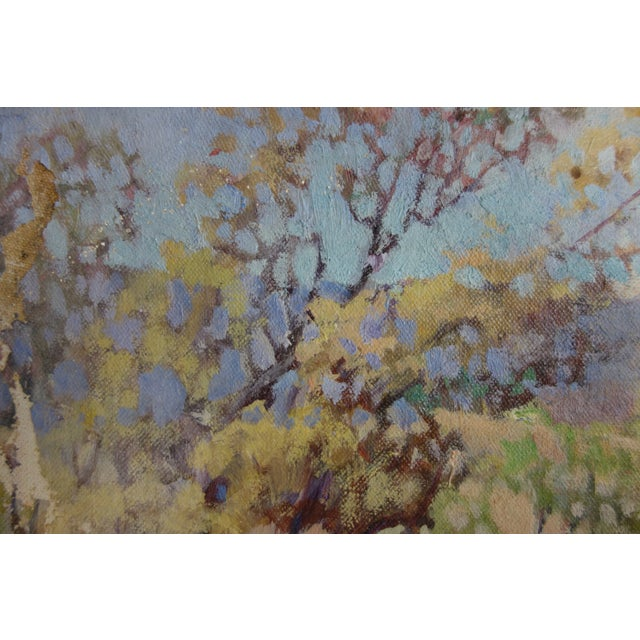 Vintage Oil on Canvas Fall Landscape Painting For Sale - Image 10 of 12