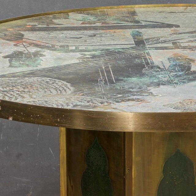 1960s 1960s Chinoiserie Kelvin LaVerne Bronze Chan Coffee Table For Sale - Image 5 of 8