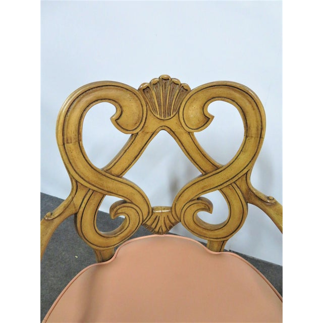 Wood Louis XV Style Maple Shell Carved Dining Chairs- Set of 6 For Sale - Image 7 of 10