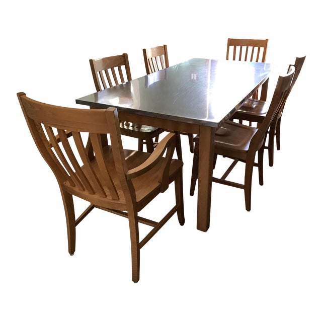 Pottery Barn Dining Room Set: Pottery Barn Stainless Steel Dining Room Set