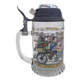 West German Beer Mug With Bike Bell