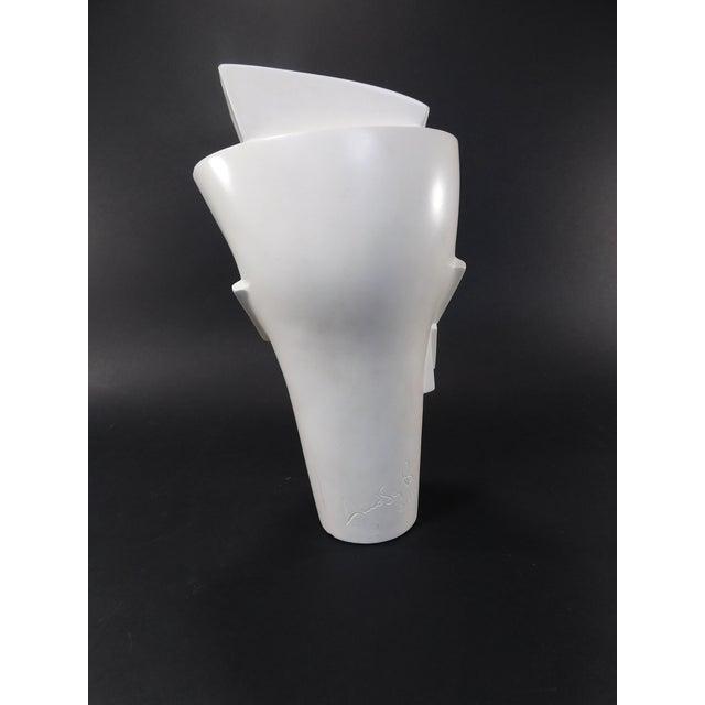 Lindsey Balkweill 1984 Vintage Sculptural Plaster Head - Image 5 of 11