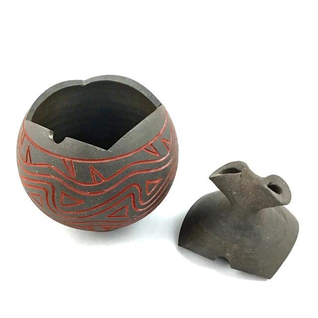 Clay Japanese Modern Artisanal Clay Ceramic Bud Vase For Sale - Image 7 of 11
