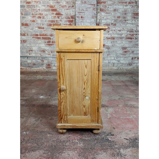 """Antique Pine Cabinet Stand size 15 x 14 x 33"""" A beautiful piece that will add to your décor!"""