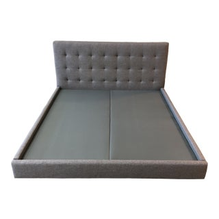 Custom California King Upholstered Platform Bed Frame For Sale