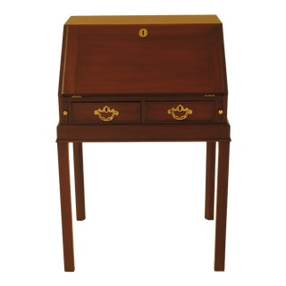 1970s Chippendale Kittinger Colonial Williamsburg Mahogany Slant Front Writing Desk For Sale