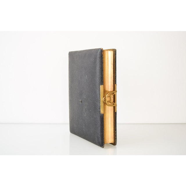 Traditional Antique English Victorian Photo Album with Brass Clasp, 1890s For Sale - Image 3 of 6