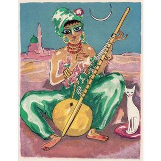 """Kees VanDongen """"Arabian Nights"""" Wood Engraving, Paris, 1955 For Sale"""