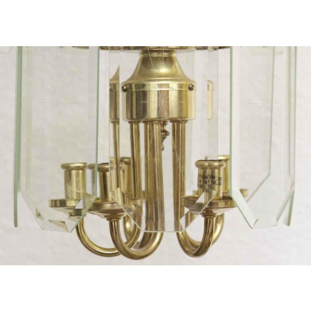 1970s Mid Century Tiered Wedding Cake Chandelier For Sale - Image 5 of 7