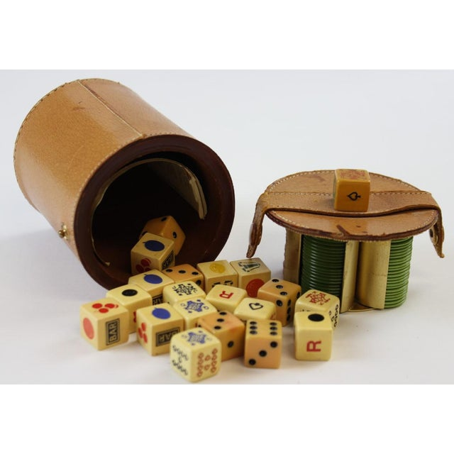 Abercrombie & Fitch Leather Dice Set - Image 4 of 9