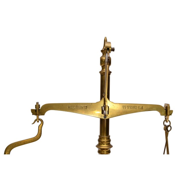 British Colonial Merchant's Scale, England, Antique Brass For Sale - Image 3 of 11