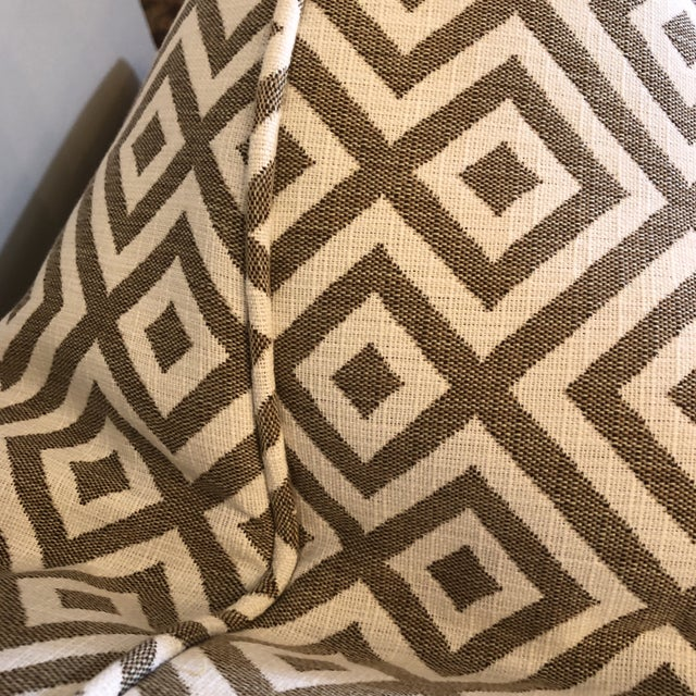 "Geometric Woven Cotton 22"" Pillows - a Pair For Sale - Image 4 of 6"