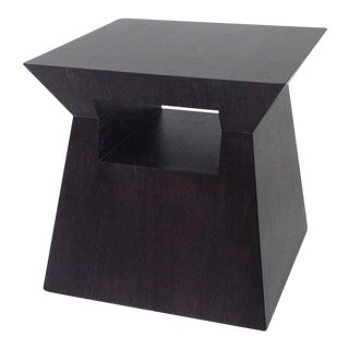 Modern Alder Wood End Table For Sale