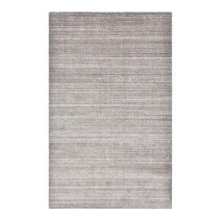 Sanam, Contemporary Solid Hand Loomed Area Rug, Brown, 5 X 8 For Sale